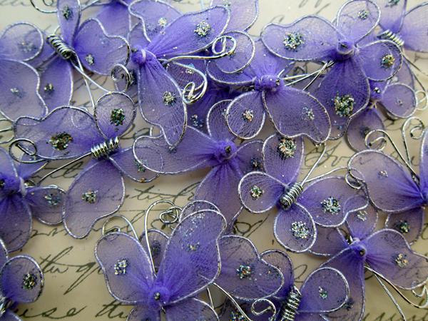Embellishment Nylon Artificial Butterfly Butterflies Scrapbook Decoration - 1