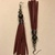 Maroon Leather Tassel Earrings