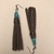 Brown Pebble Leather Tassel Earrings