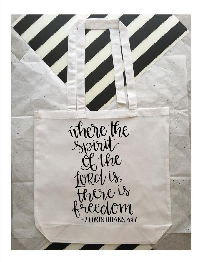 Custom Bag with Bible Verse, Cotton Tote Bags, Bags for Bible Study