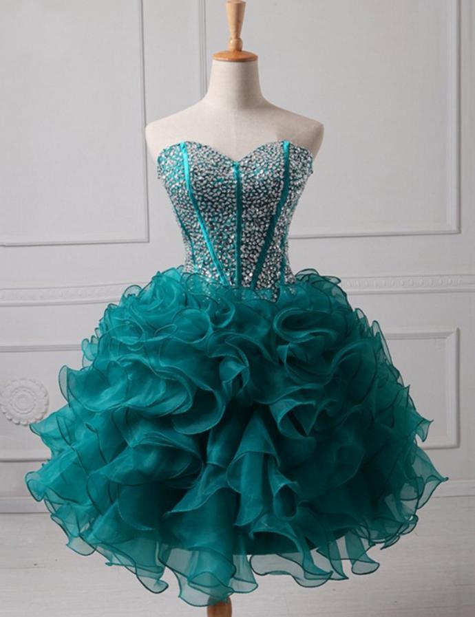 Cute Sweetheart Beading Homecoming Dresses,Short Prom Dresses,Cheap Homecoming