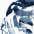 Indigo Print, Printable Abstract Art, Modern Abstract Watercolor Print, Indigo