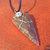 Men's Arrowhead Pendant, Tribal Jewelry, Vegan Friendly Cording, Native Style,