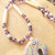 Dendritic Jasper and Lepodolite Bear Necklace, Native Style, Spirit Bear