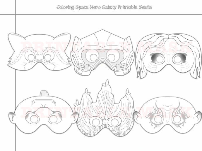 photo about Printable Masks called House Hero Galaxy Printable Coloring Masks, photograph props, hero masks, printable mask, coloration mask, region mask, rac, youngsters dress, birthday