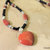 Heart Jewelry, Seed Bead Necklace, Mahogany Obsidian and Red Jasper, Handcrafted