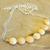 Honey Calcite Necklace, Bib Necklace, Yellow Gemstone, Handcrafted Jewelry,