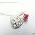 Silver Filigree Heart and Crystal Pendant, Minimalist Jewelry, Heart Jewelry,
