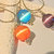 Cat's Eye Pendant, Choice of Turquoise, Fiery Orange or Amethyst, Handcrafted