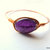 Amethyst Bangle, Amethyst and Copper, Gemstone Bangle, Copper Bangle,