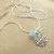 Snowflake and Crystal Pendant, Minimalist Jewelry, Winter Jewelry, Blue and