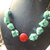 Turquoise Necklace, Statement Necklace, Turquoise and Red, Turquoise and Copper,