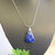 Lapis Lazuli Pendant, Silver Wire Wrap, Handcrafted Jewelry, Pendant Necklace,