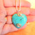 Heart Pendant, Turquoise Pendant, Sterling Silver Jewelry, Handcrafted Jewelry,