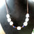 Crackle Quartz and Copper Necklace, Statement Necklace, Crystal and Cobalt Blue,