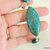 Chrysocolla and Aqua Terra Bracelet, Sterling Silver, Chunky Bracelet,