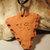 Arrowhead Pendant, Cherokee Language Jewelry, Fired Clay Pendant, Unisex