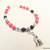 Jet and Red Magnesite Wolf Bracelet, Wolf Jewelry, Red and Black, Native Style,