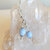 Blue Lace Agate Earrings, Blue and Crystal, Dangle Earrings, Sterling Silver