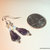 Amethyst Nugget and Opal Earrings, Dangle Earrings, Sterling Silver Jewelry,