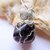 Silver Wire Wrapped Amethyst Pendant on Silver Chain, Amethyst and Silver,