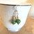 Green Agate Earrings, Dangle Earrings, Silver Jewelry, Green and Gold,