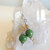 Green Agate Earrings, Dangle Earrings, Silver Jewelry, Green and Gold,