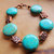 Turquoise Bracelet, Turquoise and Copper, Native Style, Southwest Style, Cowgirl
