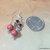 Sandalwood and Onyx Earrings, Dangle Earrings, Handcrafted Jewelry, Boho