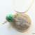 Malachite Pendant on Silver Chain, Handcrafted Pendant, Gemstone Pendant, Celtic