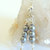 Pearl Earrings, Dangle Earrings, Sterling Silver Jewelry, Grey and Silver,