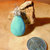 Turquoise Teardrop Pendant, Turquoise and Sterling, Handcrafted Jewerly,