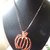 Pumpkin Pendant, Halloween Pendant, Copper Jewelry, Statement Jewelry, Photo