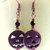 Pumpkin Earrings, Turquoise or Purple, Dangle Earrings, Jack-o-lantern Earrings,