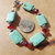 Turquoise Bracelet,Turquoise and Red, Native Style, Southwestern Style, Cowgirl