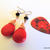 Magnesite Briolette Earrings, Dangle Earrings, Red and Black, Copper or Niobium,