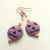 Halloween Earrings, Purple Gemstone, Jack-o-lantern Jewelry, Dangle Earrings,