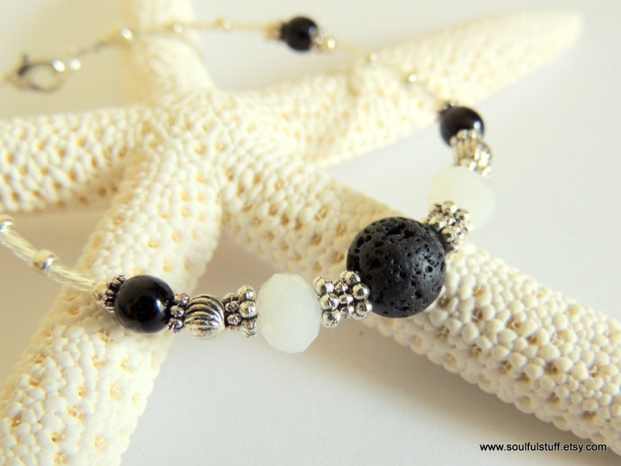 Oil Diffuser Bracelet, Aromatherapy Jewelry, Diffuser Jewelry, Lava Rock