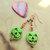 Halloween Earrings, Lime Green and Amber, Copper Jewelry, Dangle Earrings,