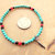 Turquoise and Red Men's Stretch Bracelet, Native Style, Handcrafted Jewelry.