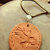 Eagle Pendant, Pottery Pendant, Cherokee Language, Unisex Jewelry, Native Style,