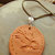 Eagle Pendant, Pottery Pendant, Cherokee Language, Unisex Jewelry, Native Style,