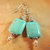 Turquoise and Silver Earrings, Native Style Jewelry, Gemstone Jewelry,