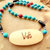 Turquoise Necklace, Reversible Pendant, Truth and Peace, Cherokee Language,