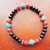 Men's Stretch Bracelet,Turquoise and Copper Jewelry, Handcrafted Jewelry,