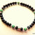 Men's Stretch Bracelet, Banded Onyx and Agate with Turquoise, Turquoise and