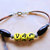 Native Style Bracelet, Cherokee Language, Yellow and Brown, Wood Jewelry, Tribal