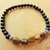 Tiger's Eye and Jet Stretch Bracelet, Men's Jewelry, Handcrafted Jewelry,