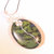 Green Jasper Wire Wrap Pendant, Silver Wire Wrap Pendant, Handcrafted Jewelry,