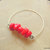 Red Coral Nugget Bangle, Silver Bangle, Handcrafted Jewelry, Red and Silver,